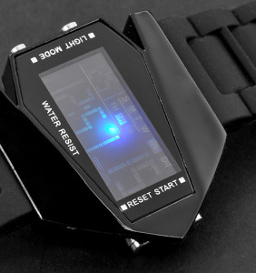 Boy's-Stealth-Plane-Shaped-LED-Watch-Black-Arrow-Changing-LED-Colors-plusbuyer_5