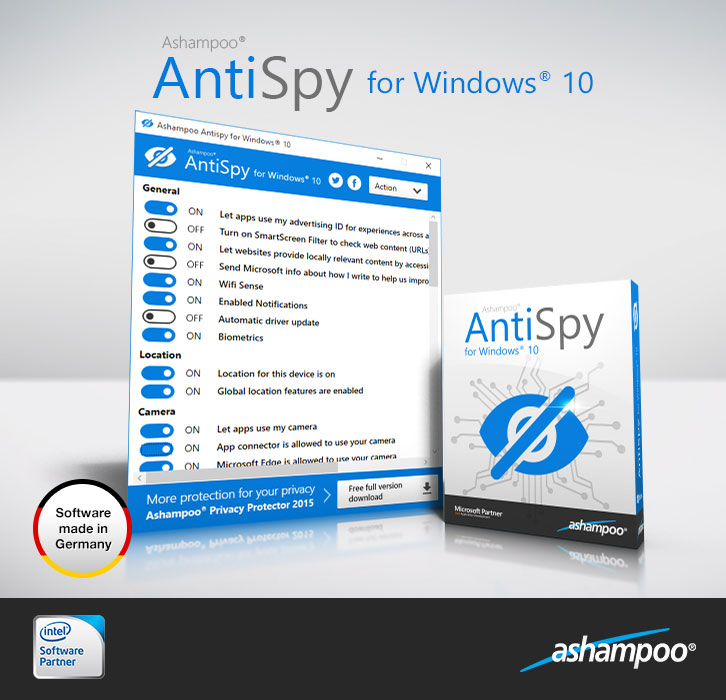 AntiSpy for Windows 10 1.0